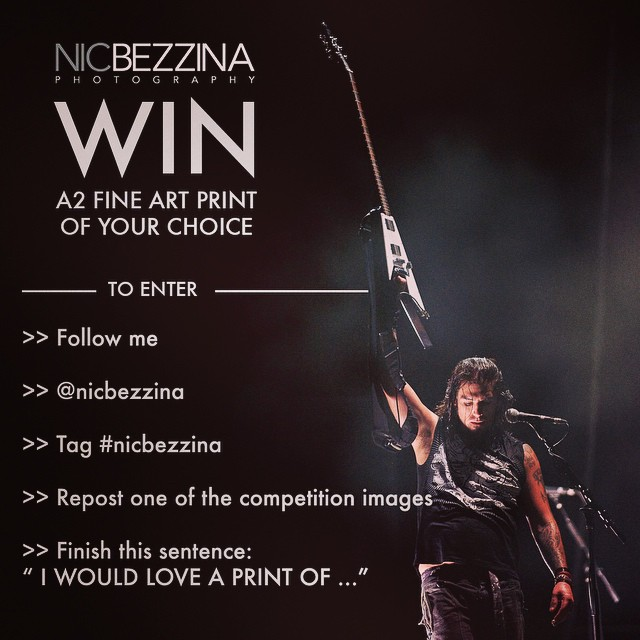 "I'm giving away three A2 prints for Xmas and the winner can choose what image they want! It's simple to enter - Follow me. Repost any competition image. Tag me @nicbezzina / Hashtag #nicbezzina Finish this sentence, ""I would love a print of…"