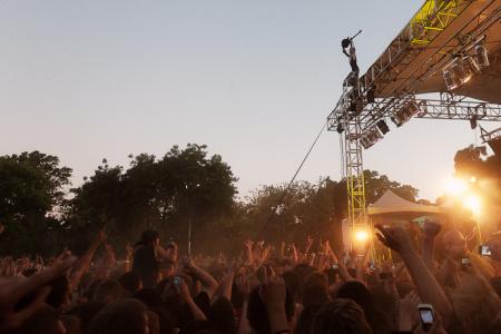 Bring Me The Horizon perform at Soundwave Festival, Adelaide 2011